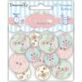 Деревянные пуговицы Cupcake Boutique Buttons Floral, 20 шт, Dovecraft, DCWB002