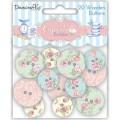Деревянные пуговицы Cupcake Boutique Buttons Floral, 20 шт, Dovecraft, DCWB002