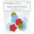 Набор бумажных цветов Back to Basics Christmas Modern, Dovecraft, DCXBL07