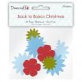 Набор бумажных цветов Back to Basics Christmas Modern, Dovecraft, DCXBL07