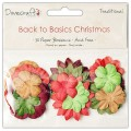Набор бумажных цветов Back to Basics Christmas Traditional, Dovecraft, DCXBL09