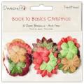 Набор бумажных цветов Back to Basics Christmas Traditional, Dovecraft, DCXBL09