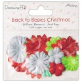 Набор бумажных цветов Back to Basics Christmas Modern, Dovecraft, DCXBL10