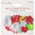 Набор бумажных цветов Back to Basics Christmas Modern, Dovecraft, DCXBL10