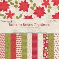 Набор бумаги Back To Basics Christmas Traditional, 20 х 20 см, 12 листов, Dovecraft, DCXDP26