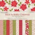 Набор бумаги Back To Basics Christmas Traditional, 20х20 см, 12 листов, Dovecraft, DCXDP26