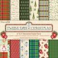 Набор бумаги Twelve Days of Christmas, 15x15 см, Dovecraft , DCXDP42