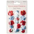 Набор бумажных роз Back to Basics Christmas Modern, Dovecraft, DCXFW02