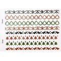 Наклейки Christmas Glitter Border Stickers-Stockings, Dovecraft, DCXGS10