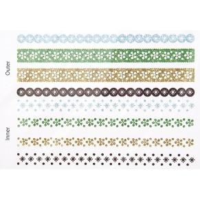 Наклейки Christmas Glitter Border Stickers – Snowflakes, DCXGS11