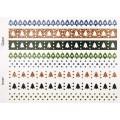 Наклейки Christmas Glitter Border Stickers – Treees, DCXGS12