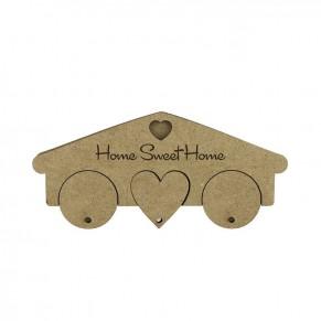 Ключница Home Sweet Home, 3 брелка, МДФ, DKR2838