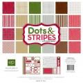 Набор двухсторонней бумаги Dots and Stripes Christmas, 30х30 см, Echo Park, DSH3016