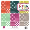Набор двухсторонней бумаги Dots and Stripes Jewels, 12листов, 30х30 см, Echo Park, DSJ9016