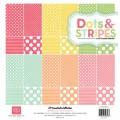 Набор двухсторонней бумаги Dots and Stripes Neapolitan, 12 листов, 30х30 см, Echo Park, DSN8016