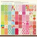 Набор бумаги Bright Dots, 30х30 см, My Mind's Eye, 60 лист., DTBB06