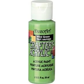Акриловая краска Crafter's Дикий Зеленый 60 мл, DCA85-3