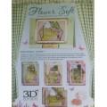 Заготовка Окно в лето для вырезания и создания открытки с использованием Flower Soft, FSBP