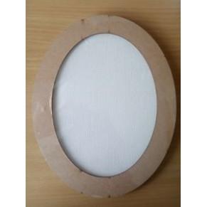 Деревянная рамка - заготовка для декупажа/росписи, с полотном на картоне, 24x19 см