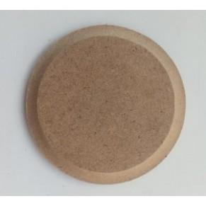 Шильда круглая - заготовка для декупажа/росписи, с фаской, 7 см, DSK-07