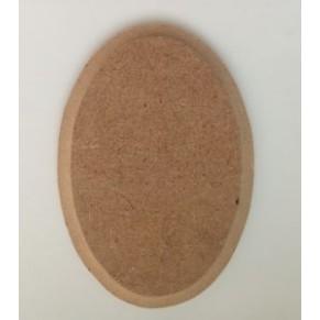 Шильда овальная - заготовка для декупажа/росписи, с фаской, 6x9 см, DSO-0609