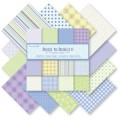 Набор бумаги Back To Basics II, 30х30 см, 12 листов, Dovecraft, DCDP107