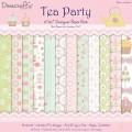Набор бумаги Tea Party, 30х30 см, 12 листов, Dovecraft, DCDP122