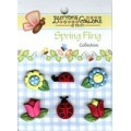 Набор пуговиц Flowers and Ladybug, Buttons Galore, F105