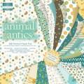 Набор бумаги Animal Antics 16 листов, 20x20 см, First Edition, FEPAD005