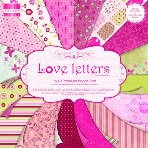 Набор бумаги Love Letters, 16 листов, 30х30 см, First Edition, FEPAD007