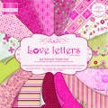 Набор бумаги Love Letters, 16 листов,15х15 см, First Edition, FEPAD009