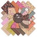 Набор бумаги Desert Blooms, 15х15 см, First Edition, FEPAD012