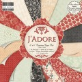 Набор бумаги J'adore, 15×15 см, 16 листов, First Edition, FEPAD057