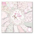 Набор бумаги It's a Girl, 30×30 см, First Edition, FEPAD078