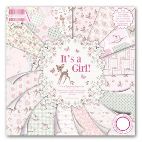 Набор бумаги It's a Girl, 20×20 см, First Edition, FEPAD079