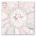 Набор бумаги It's a Girl, 15×15 см, First Edition, FEPAD080