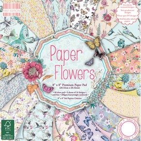 Набор бумаги Paper Flowers, 20×20 см, First Edition, FEPAD094