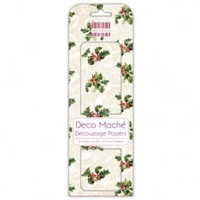 Бумага для декупажа Deco Maché -  Holly, First Edition, FEXDEC007