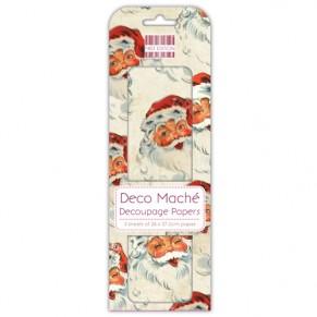 Бумага для декупажа Deco Maché -  Santa, First Edition, FEXDEC010