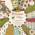 Набор бумаги с глиттером Christmas Village 30х30 см, First edition, FEXPAD07D