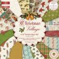 Набор бумаги Christmas Village, 16 листов, 20х20 см, First Edition, FEXPAD091