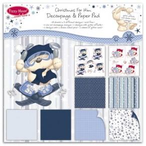 Набор бумаги Fizzy Moon Decoupage Christmas for Him, 20х20см, FZXDG03