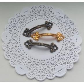 Ручка декоративная для комодов, шкатулок, бронза, 50x15 мм