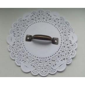 Ручка декоративная для декупажа/комодов, бронза, 52x10 мм