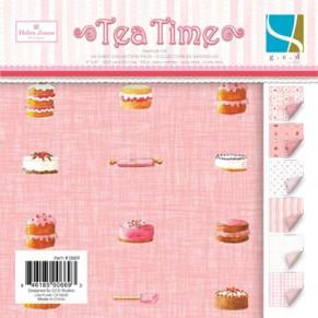 Набор бумаги Tea Time 30x30, 24  листа, GCD Studio, GCD6686