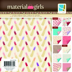 Набор бумаги Material Girls, 30x30, 12 листов, GCD Studio, GCD7294
