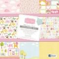 Набор бумаги Baby Boo Girl, 30х30 см, 13 лист, 1 лист тегов, 2 листа наклеек, Grace Taylor, GT960