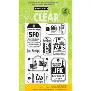 Акриловые штампы Luggage Tags, Hero Arts, CL653