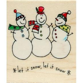 Резиновый штамп Whimsical Christmas №4, Hampton Art, HA04