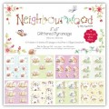 Набор бумаги Neighbourwood Glittered Pyramage Pack, 20х20 см, Helz Cuppleditch, HCDG010